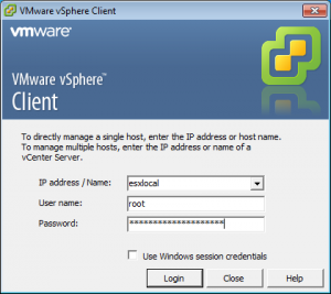 vsphere-connection-window