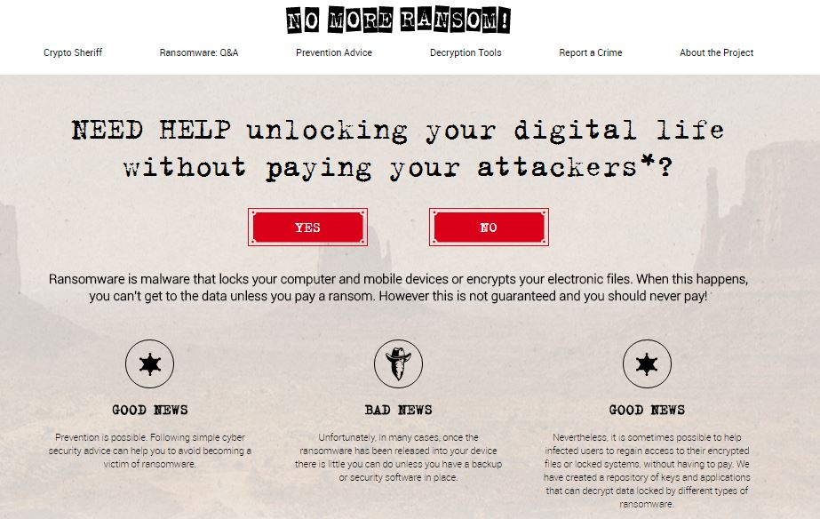 Ransomware, No More Ransom